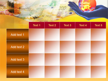Yellow Colored Euro Currency PowerPoint Template Slide 15