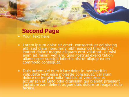 Yellow Colored Euro Currency PowerPoint Template Slide 2
