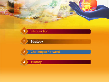 Yellow Colored Euro Currency PowerPoint Template Slide 3