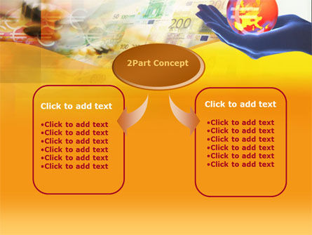 Yellow Colored Euro Currency PowerPoint Template Slide 4