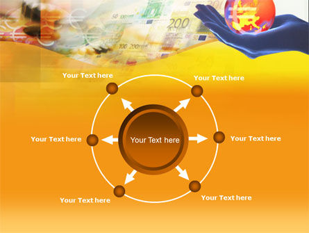 Yellow Colored Euro Currency PowerPoint Template Slide 7