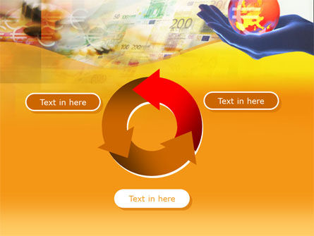Yellow Colored Euro Currency PowerPoint Template Slide 9