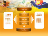 Yellow Colored Euro Currency PowerPoint Template#13