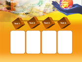 Yellow Colored Euro Currency PowerPoint Template#18
