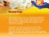 Yellow Colored Euro Currency PowerPoint Template#2