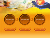 Yellow Colored Euro Currency PowerPoint Template#5