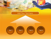Yellow Colored Euro Currency PowerPoint Template#8