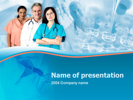 Medical: Medical Staff On Duty PowerPoint Template #00083