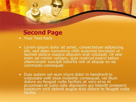 Beer PowerPoint Template, Slide 2, 00085, Food & Beverage — PoweredTemplate.com