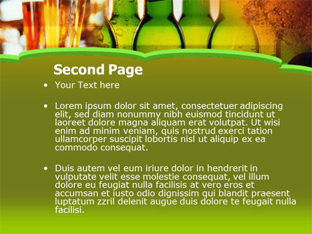 Beer Bottles PowerPoint Template, Slide 2, 00086, Food & Beverage — PoweredTemplate.com
