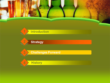 Beer Bottles PowerPoint Template, Slide 3, 00086, Food & Beverage — PoweredTemplate.com