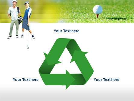 Couple of Golfers PowerPoint Template Slide 10