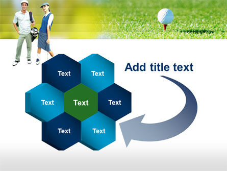 Couple of Golfers PowerPoint Template Slide 11