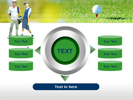 Couple of Golfers PowerPoint Template Slide 12