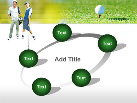Couple of Golfers PowerPoint Template Slide 14