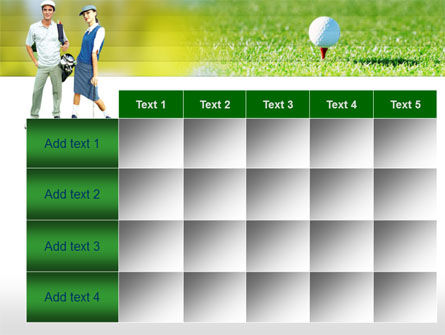 Couple of Golfers PowerPoint Template Slide 15