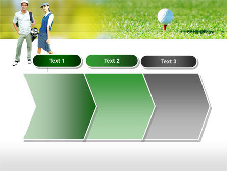 Couple of Golfers PowerPoint Template Slide 16
