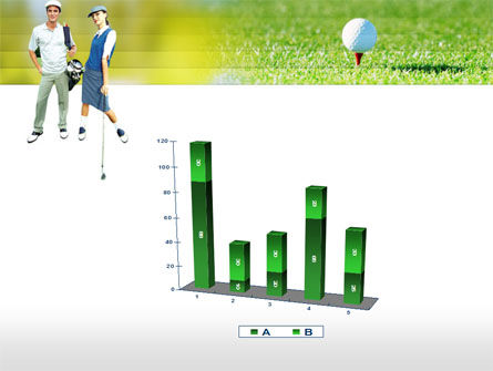 Couple of Golfers PowerPoint Template Slide 17