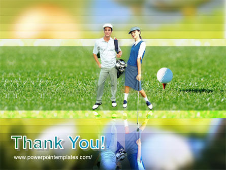 Couple of Golfers PowerPoint Template Slide 20