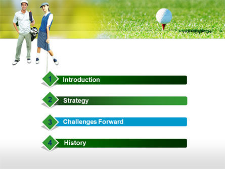 Couple of Golfers PowerPoint Template, Slide 3, 00087, Sports — PoweredTemplate.com