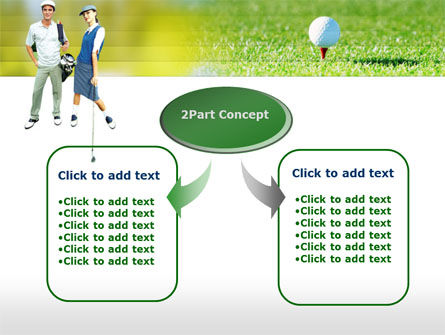 Couple of Golfers PowerPoint Template, Slide 4, 00087, Sports — PoweredTemplate.com