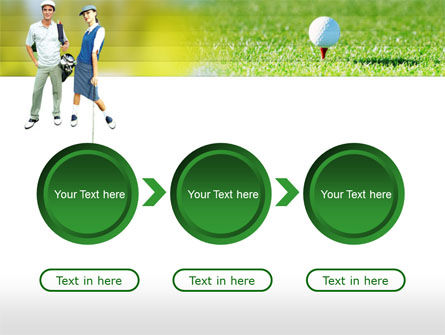 Couple of Golfers PowerPoint Template Slide 5