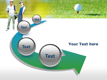 Couple of Golfers PowerPoint Template Slide 6
