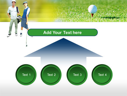Couple of Golfers PowerPoint Template Slide 8