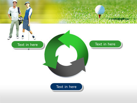 Couple of Golfers PowerPoint Template Slide 9