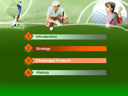 Golfers On The Field PowerPoint Template Slide 3