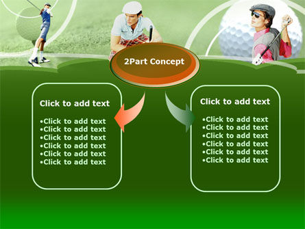 Golfers On The Field PowerPoint Template Slide 4