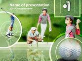 Sports: Plantilla de PowerPoint - golfistas en el campo #00088