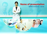 Medical: Nurse On Duty PowerPoint Template #00089