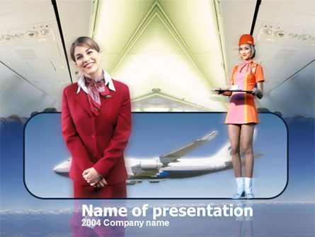 Stewardess PowerPoint Template