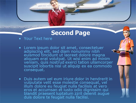 Stewardess PowerPoint Template Slide 2