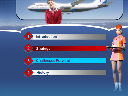 Stewardess PowerPoint Template Slide 3