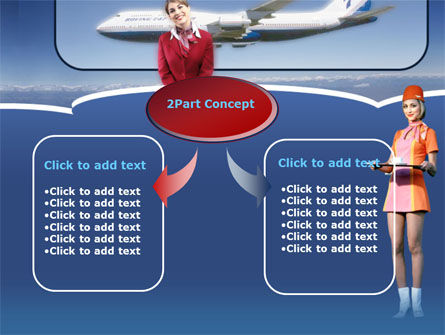 Stewardess PowerPoint Template Slide 4