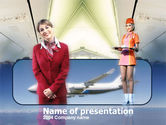 Cars and Transportation: Stewardess PowerPoint Template #00092