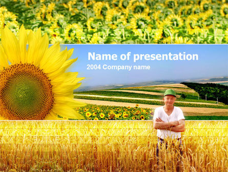 Agronomy PowerPoint Template, 00093, Agriculture — PoweredTemplate.com