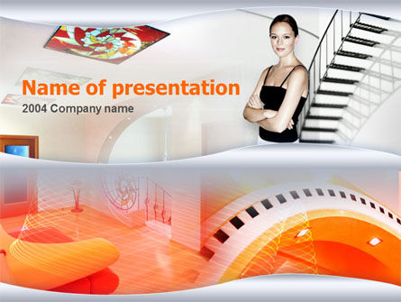 Construction: Modelo do PowerPoint - design de interiores #00094