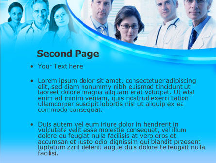 Portrait Of Medical Staff In Blue Colors PowerPoint Template, Slide 2, 00096, Medical — PoweredTemplate.com