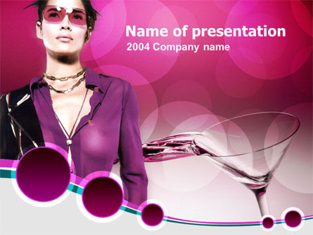 Night Club PowerPoint Template, 00097, Art & Entertainment — PoweredTemplate.com