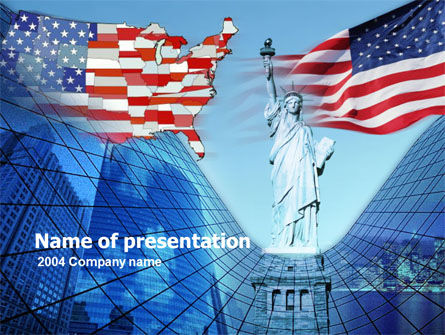 American Glory PowerPoint Template, 00098, America — PoweredTemplate.com