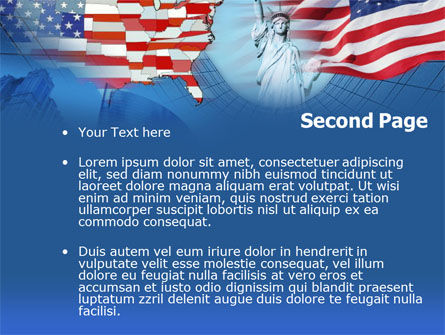 American Glory PowerPoint Template Slide 2
