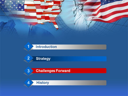 American Glory PowerPoint Template, Slide 3, 00098, America — PoweredTemplate.com