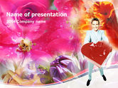 Holiday/Special Occasion: Valentines Day Gift PowerPoint Template #00100