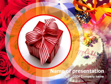 Holiday/Special Occasion: Birthday Present PowerPoint Template #00101