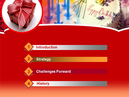 Birthday Present PowerPoint Template Slide 3