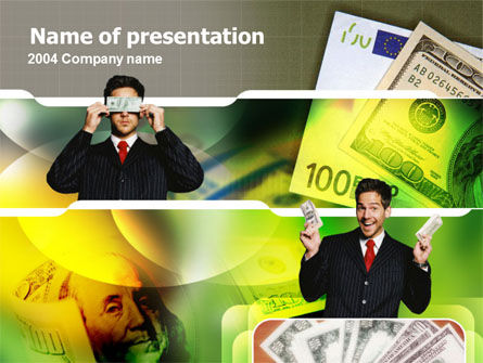Financial/Accounting: Earning Money PowerPoint Template #00103