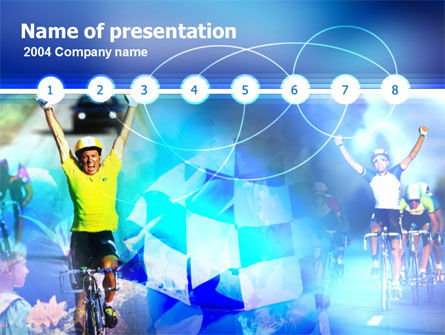 Sports: Radrennen PowerPoint Vorlage #00104